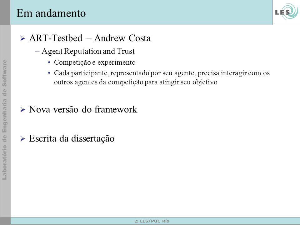 Em andamento ART-Testbed – Andrew Costa Nova versão do framework