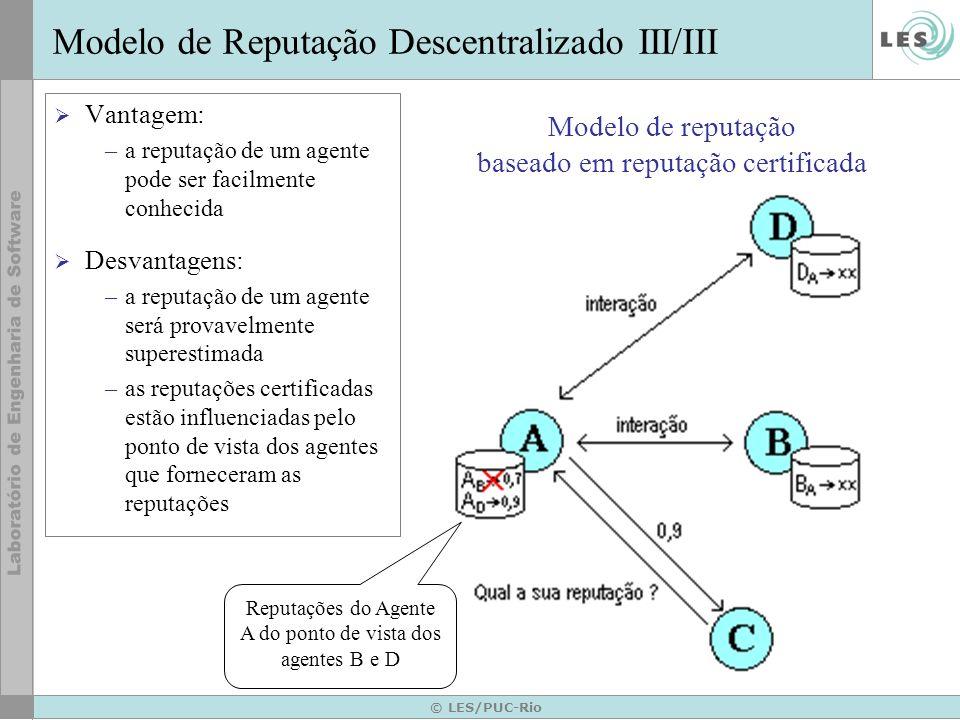 Modelo de reputação baseado em reputação certificada