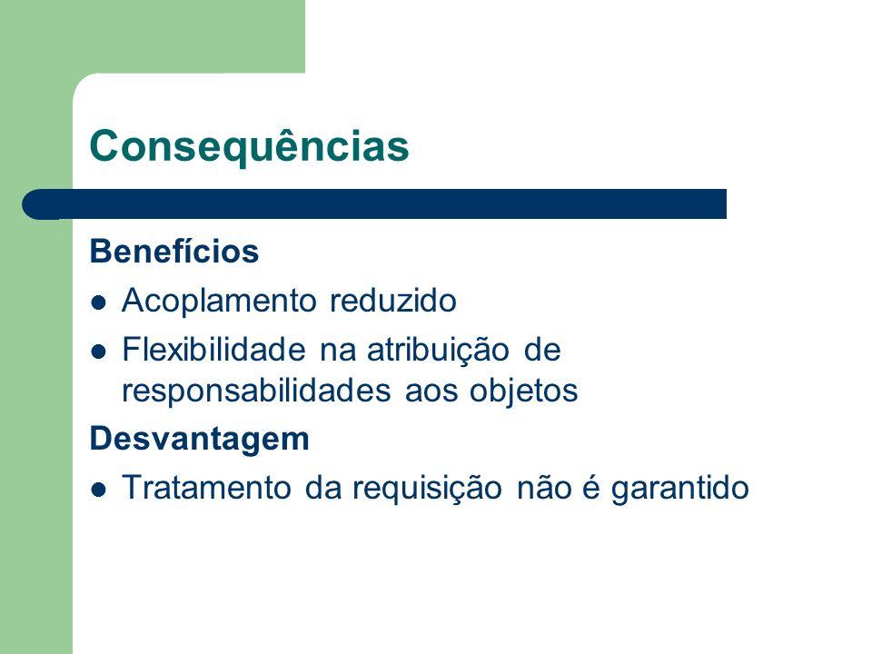 Consequências Benefícios Acoplamento reduzido