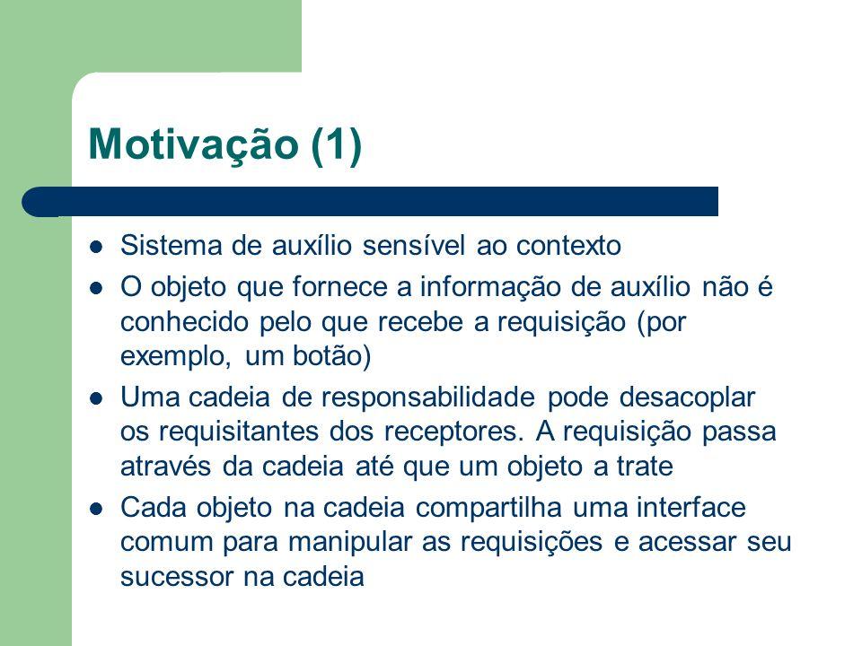 Motivação (1) Sistema de auxílio sensível ao contexto
