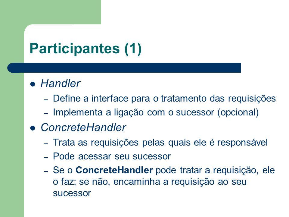 Participantes (1) Handler ConcreteHandler