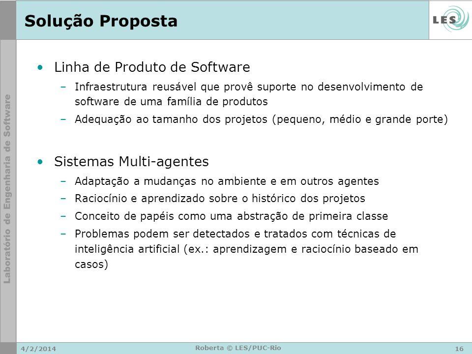 Solução Proposta Linha de Produto de Software Sistemas Multi-agentes