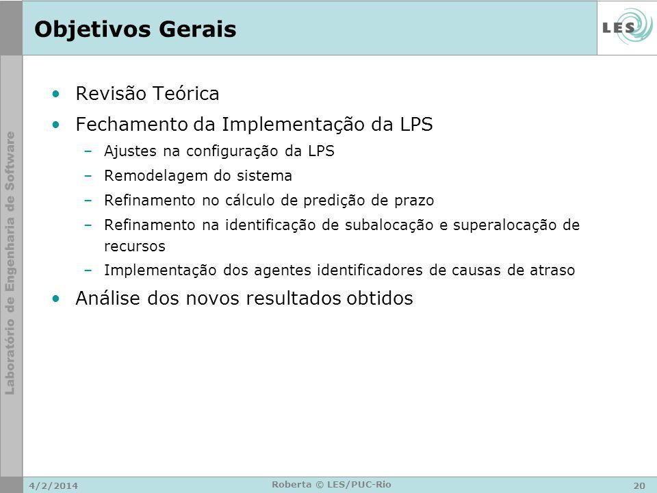 Objetivos Gerais Revisão Teórica Fechamento da Implementação da LPS