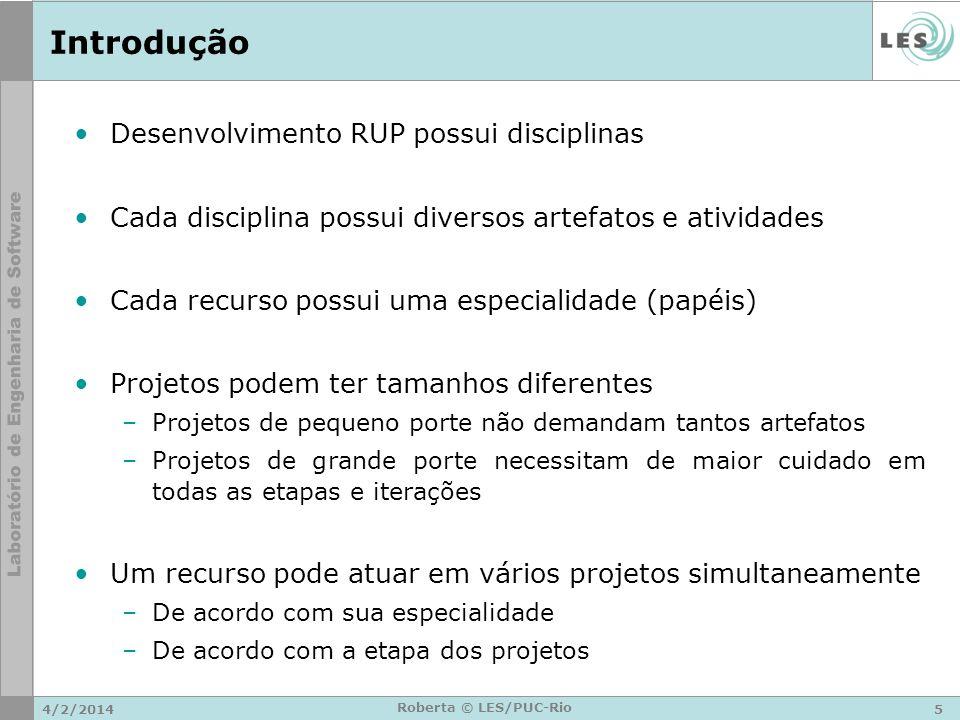 Introdução Desenvolvimento RUP possui disciplinas