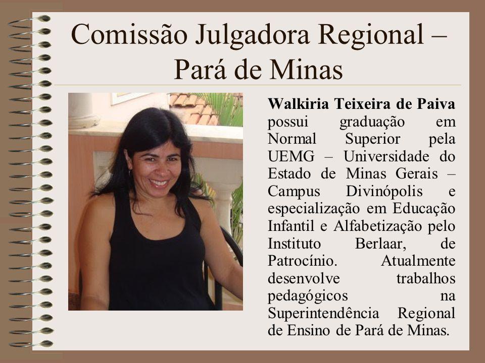 Comissão Julgadora Regional – Pará de Minas