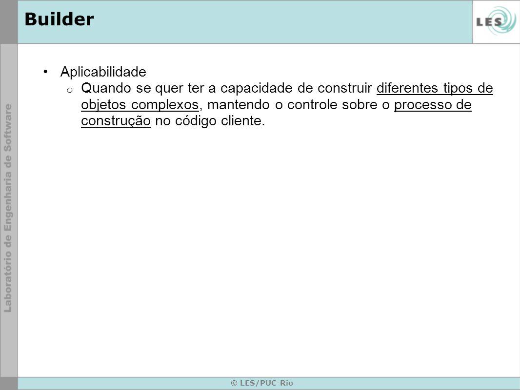 Builder Aplicabilidade