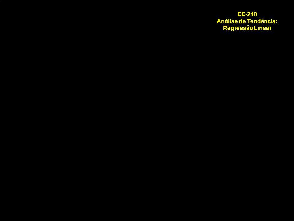 EE-240 Análise de Tendência: Regressão Linear