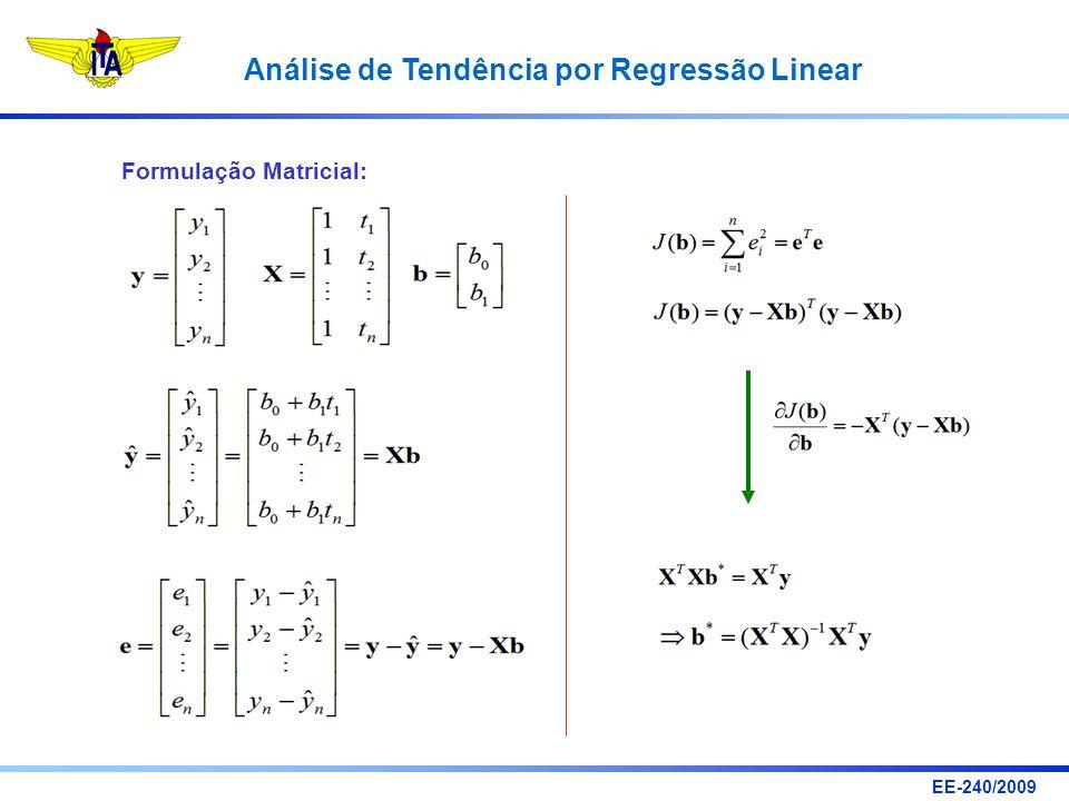 Formulação Matricial: