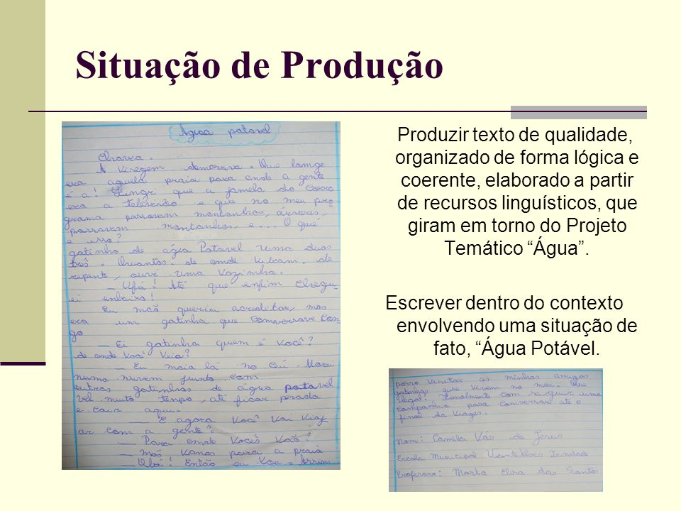Situação de Produção
