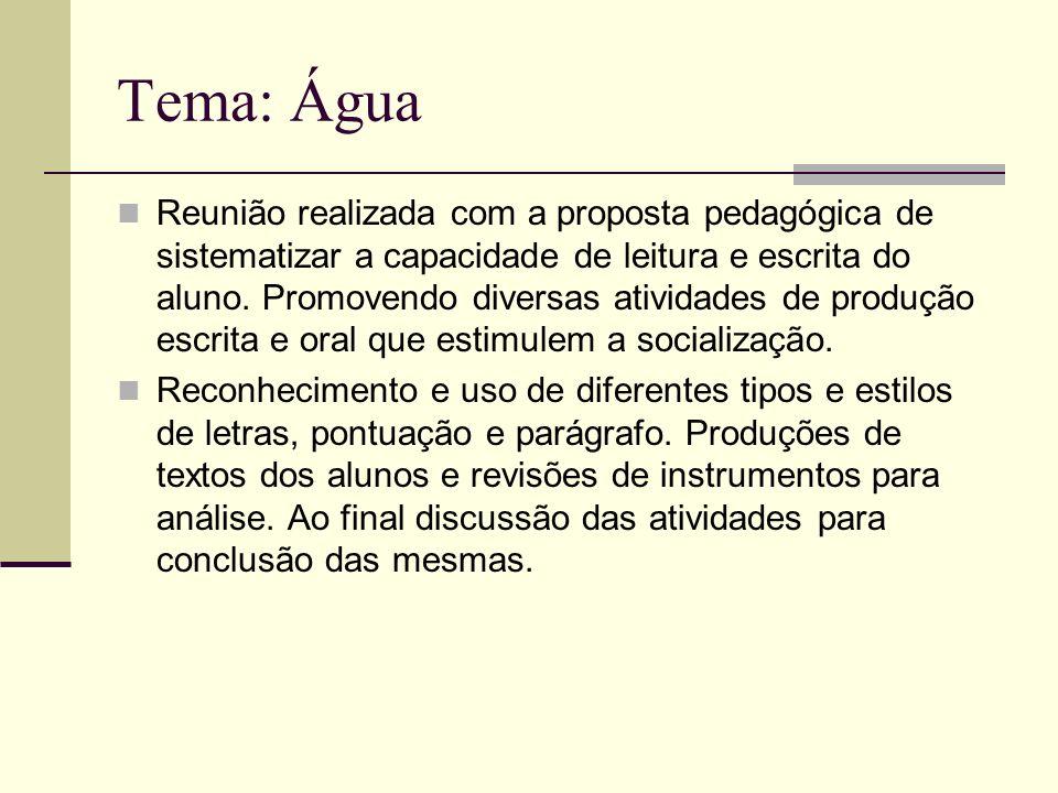 Tema: Água