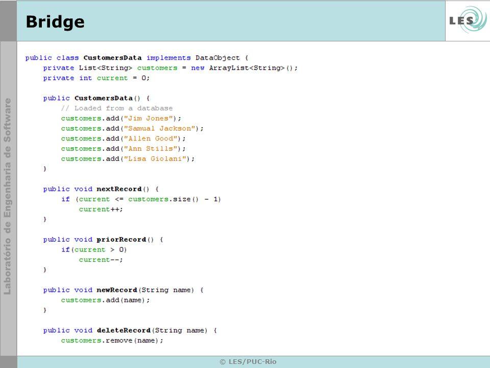 BridgeConcreteImplementor: Implementa a interface de Implementor e define. * sua implementação concreta.