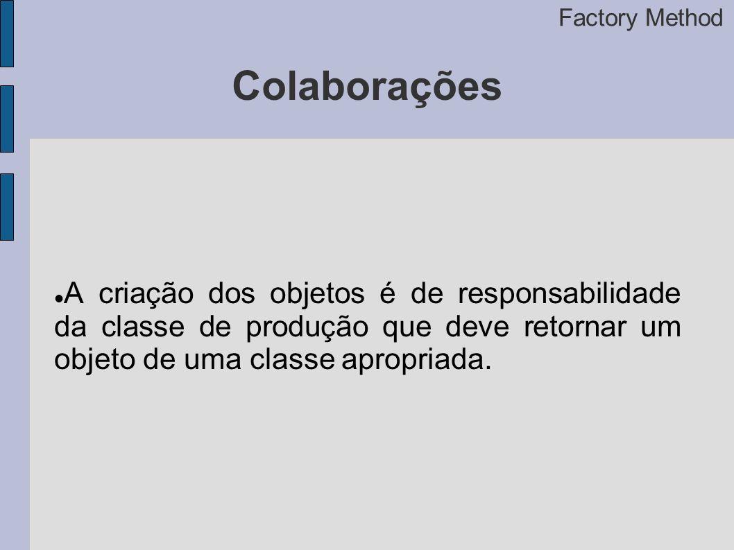 Factory Method Colaborações.