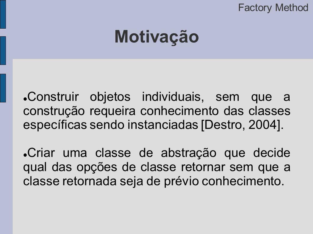 Factory Method Motivação.