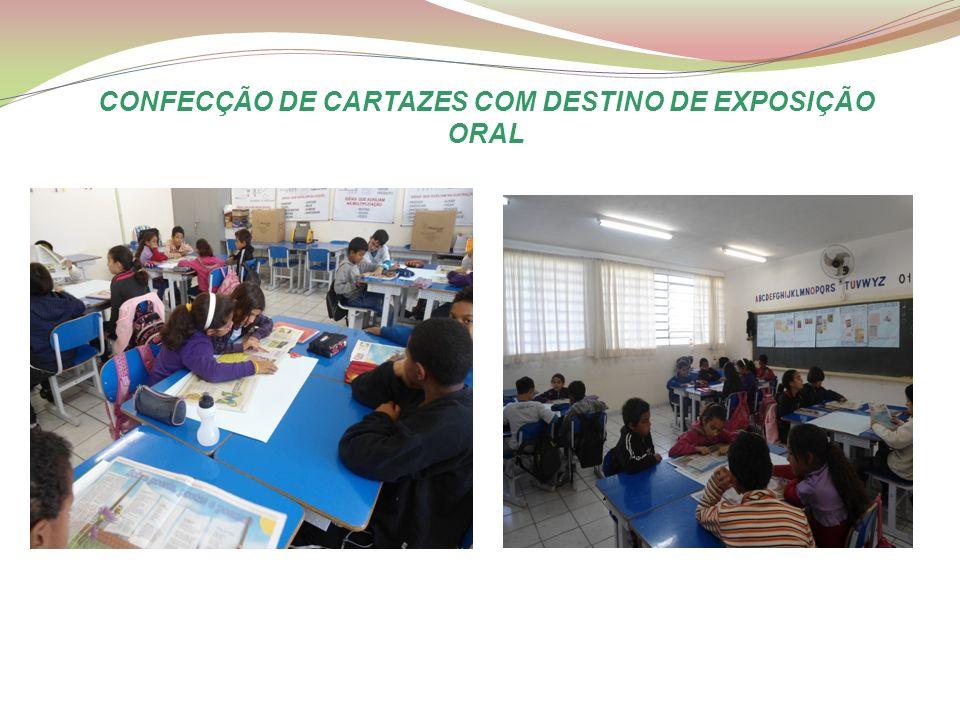 CONFECÇÃO DE CARTAZES COM DESTINO DE EXPOSIÇÃO ORAL
