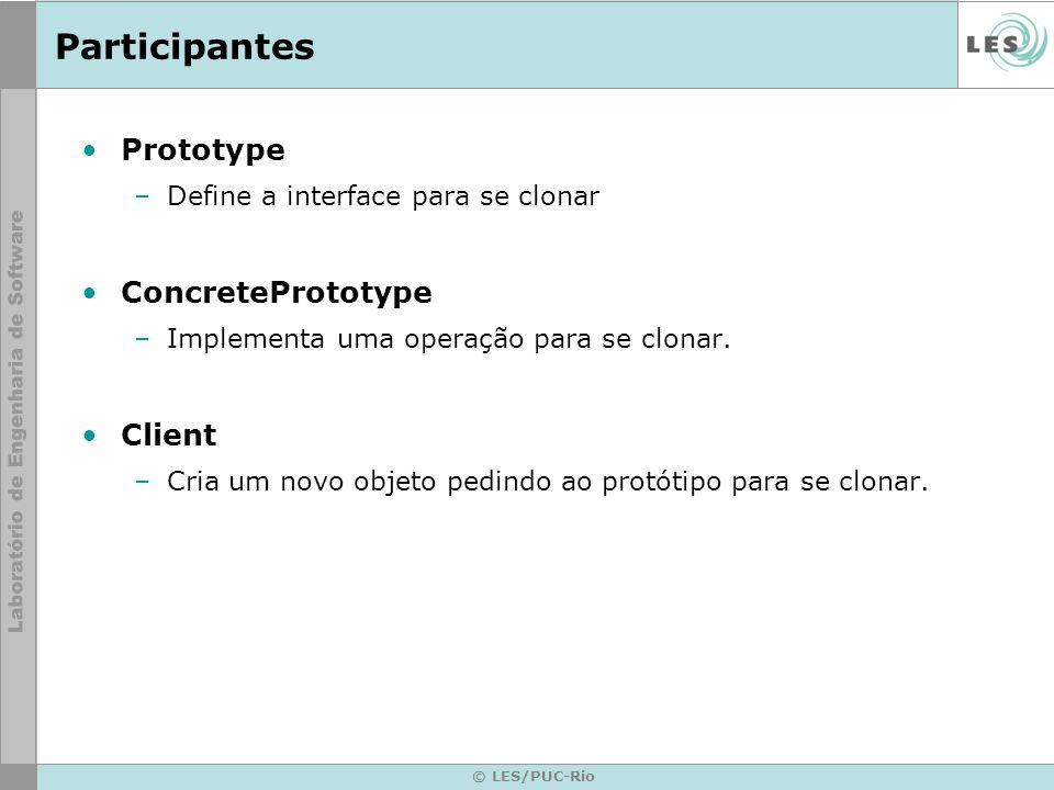 Participantes Prototype ConcretePrototype Client