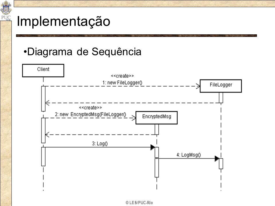 Implementação Diagrama de Sequência