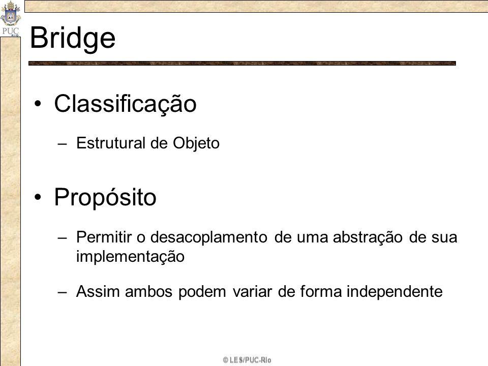 Bridge Classificação Propósito Estrutural de Objeto