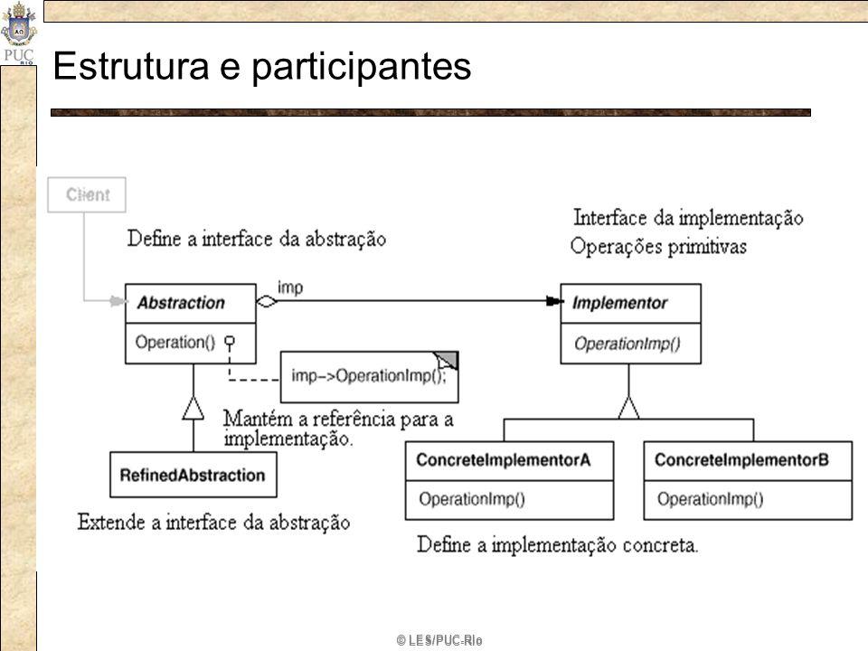 Estrutura e participantes