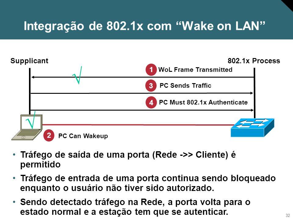 Integração de 802.1x com Wake on LAN
