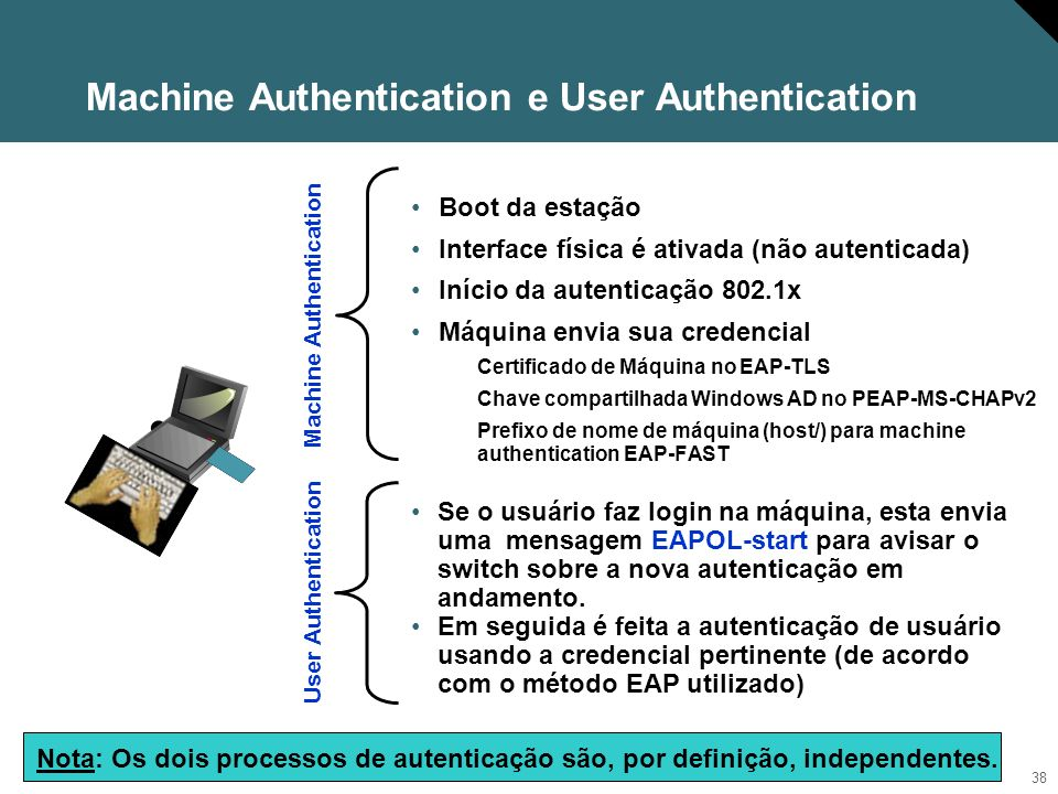 Machine Authentication e User Authentication