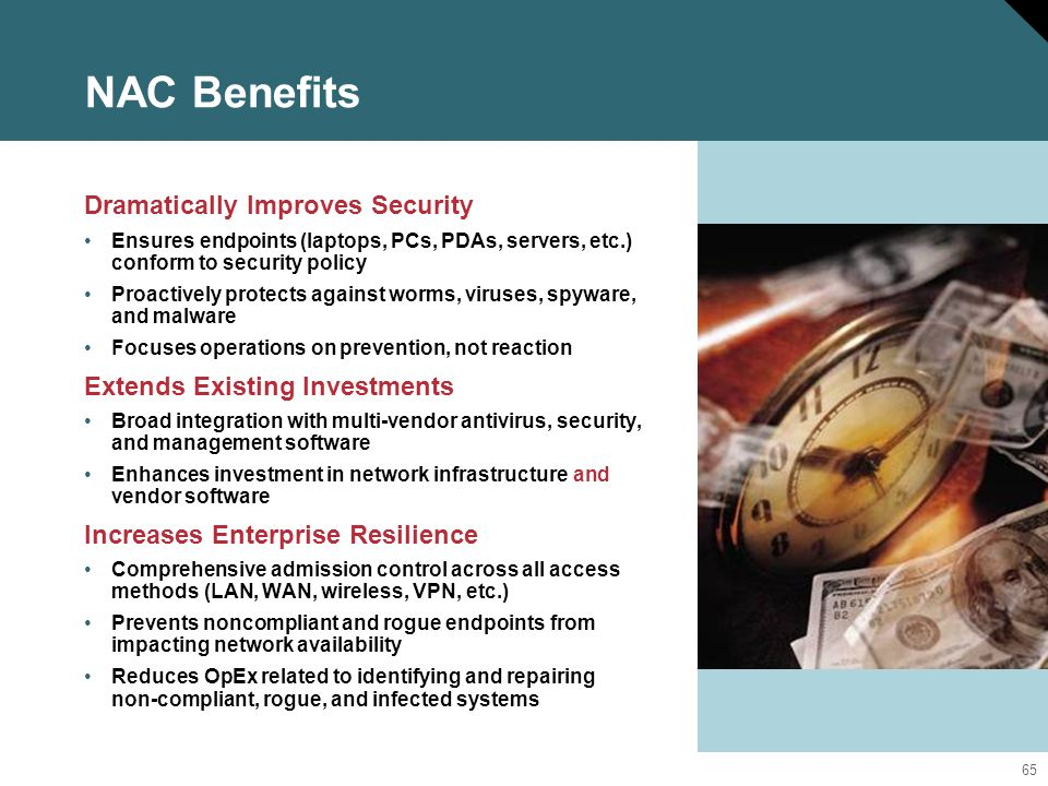 NAC Benefits Dramatically Improves Security