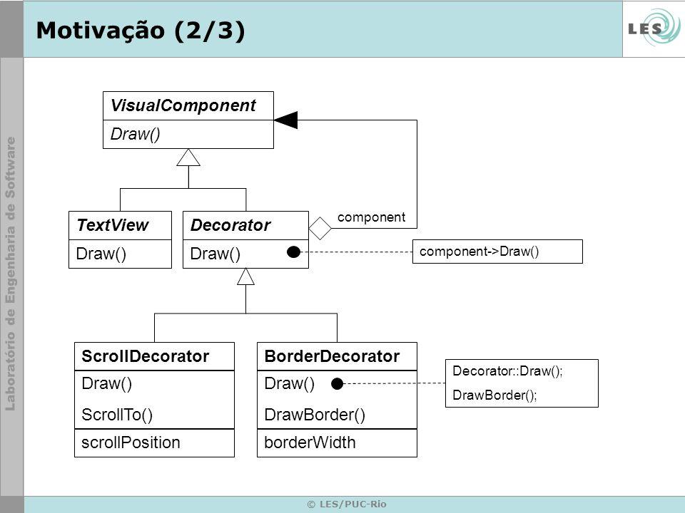 Motivação (2/3) TextView Draw() ScrollDecorator ScrollTo()
