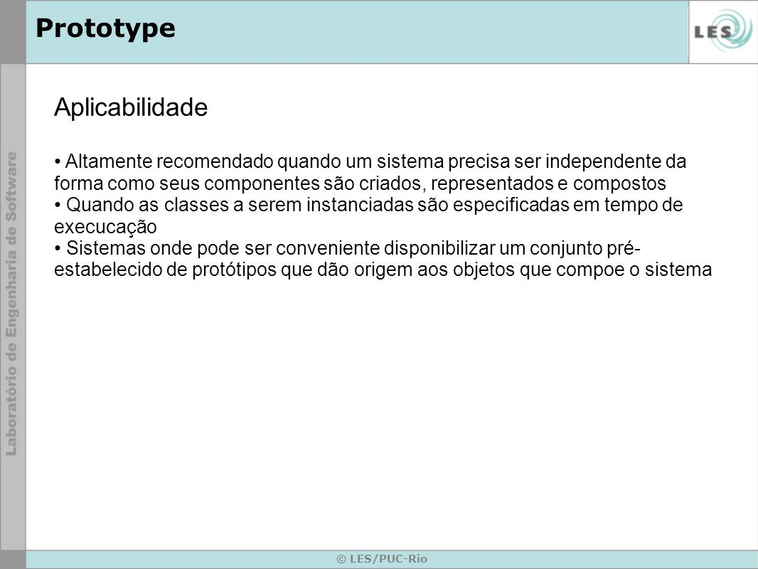 Prototype Aplicabilidade