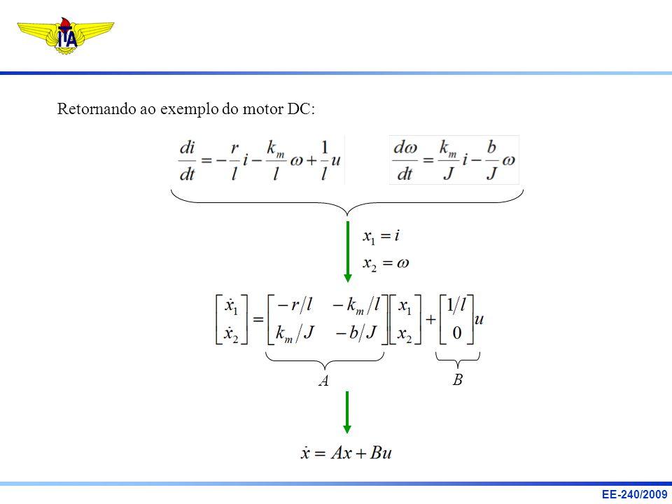 Retornando ao exemplo do motor DC: