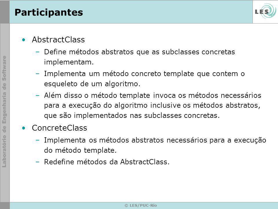 Participantes AbstractClass ConcreteClass