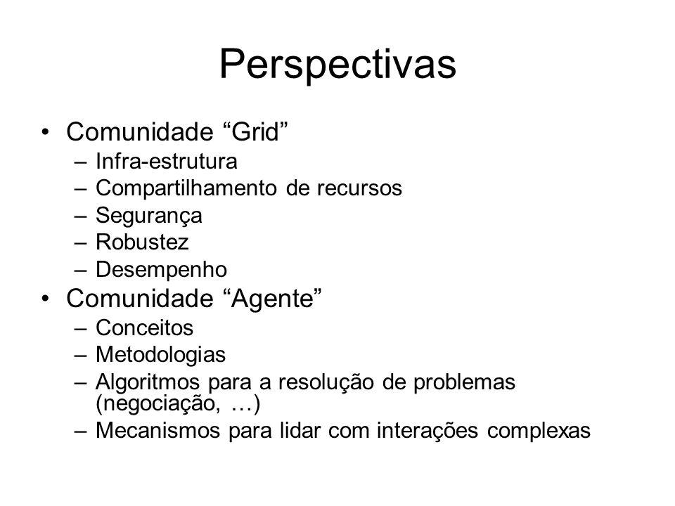 Perspectivas Comunidade Grid Comunidade Agente Infra-estrutura