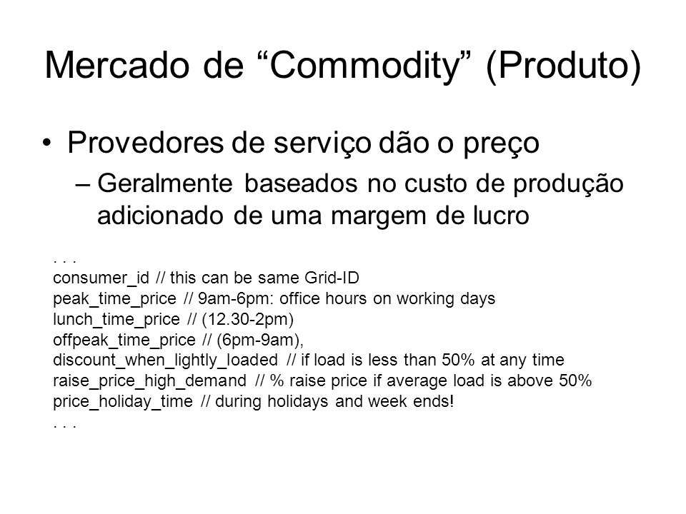 Mercado de Commodity (Produto)