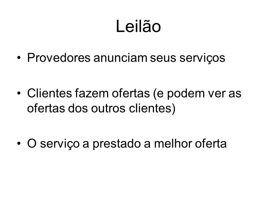 Leilão Provedores anunciam seus serviços