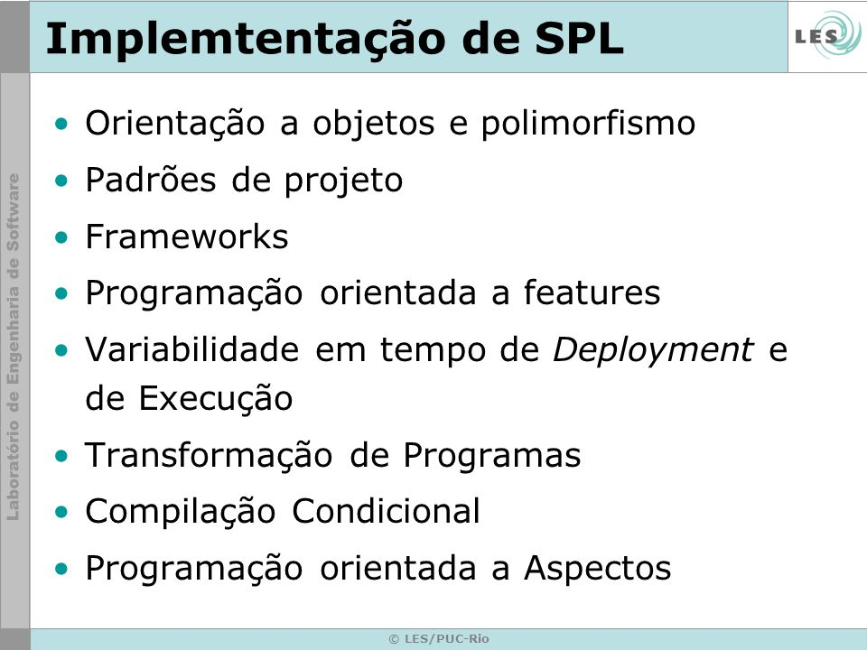 Implemtentação de SPL Orientação a objetos e polimorfismo