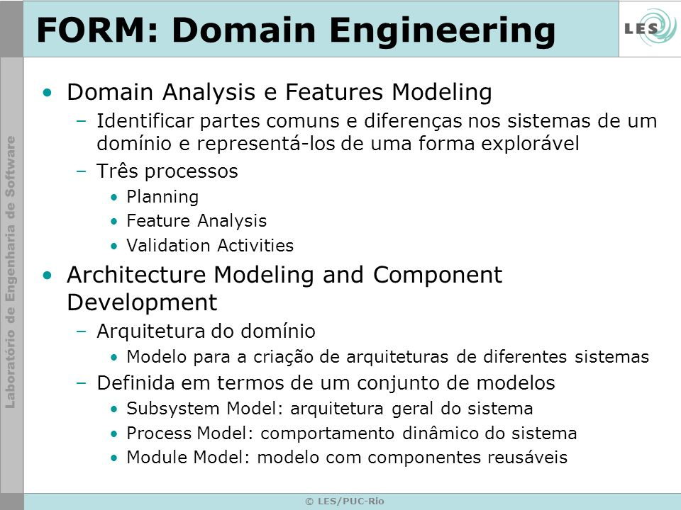 FORM: Domain Engineering