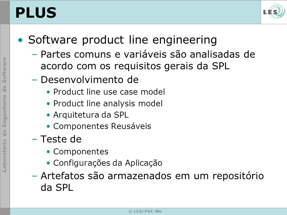 PLUS Software product line engineering