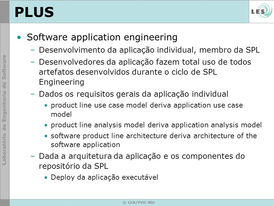 PLUS Software application engineering