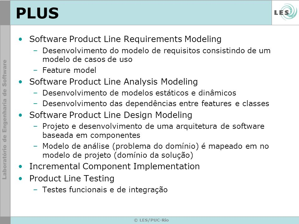PLUS Software Product Line Requirements Modeling