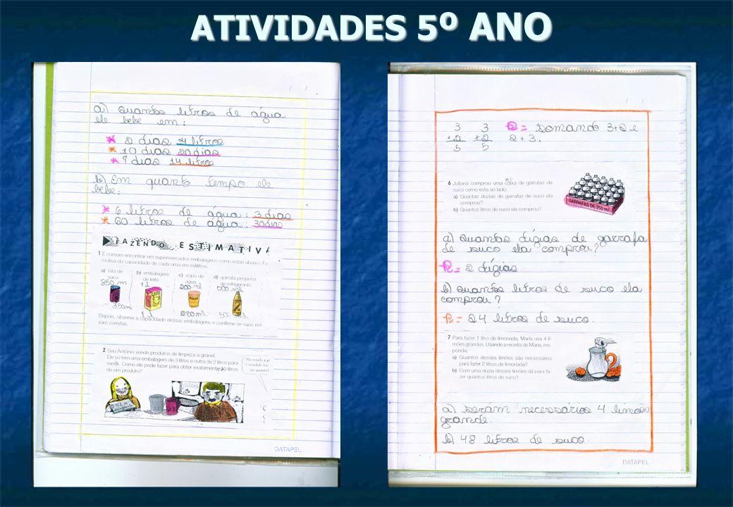 ATIVIDADES 5º ANO