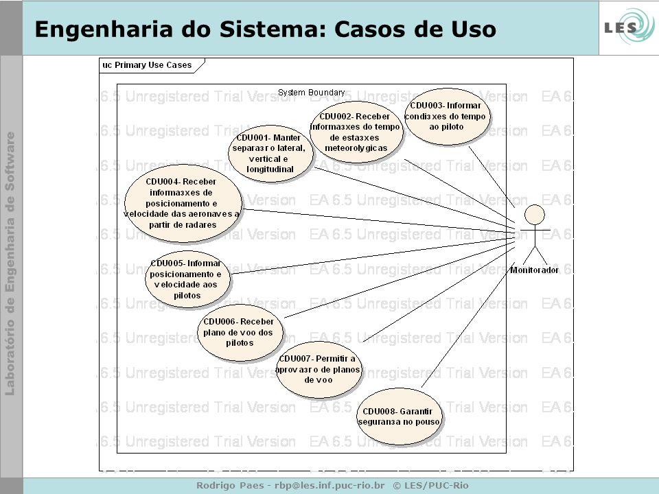 Engenharia do Sistema: Casos de Uso