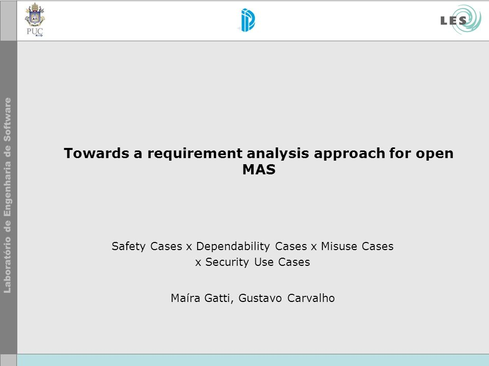 Towards a requirement analysis approach for open MAS