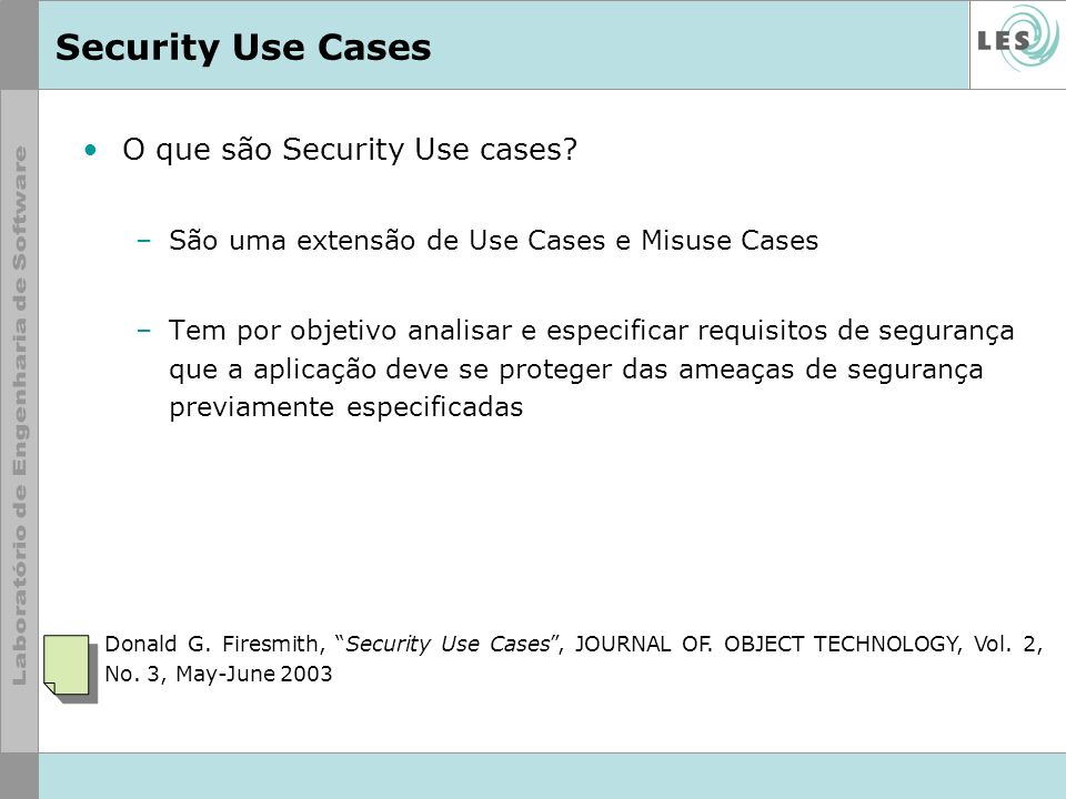 Security Use Cases O que são Security Use cases