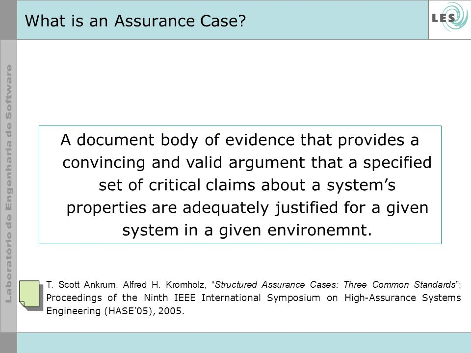 What is an Assurance Case