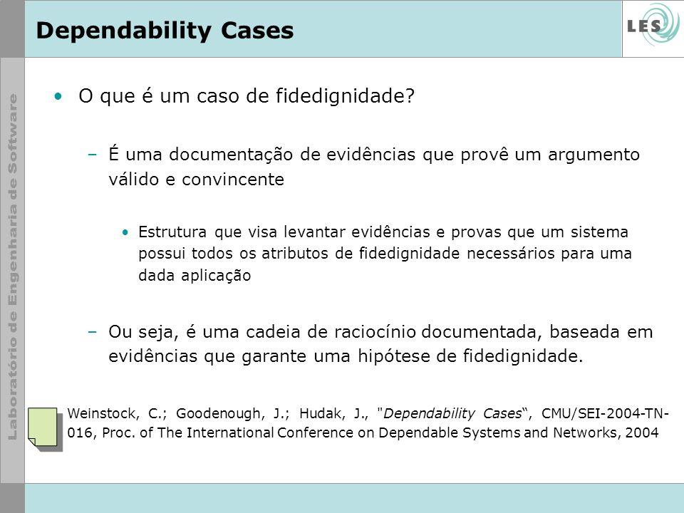 Dependability Cases O que é um caso de fidedignidade