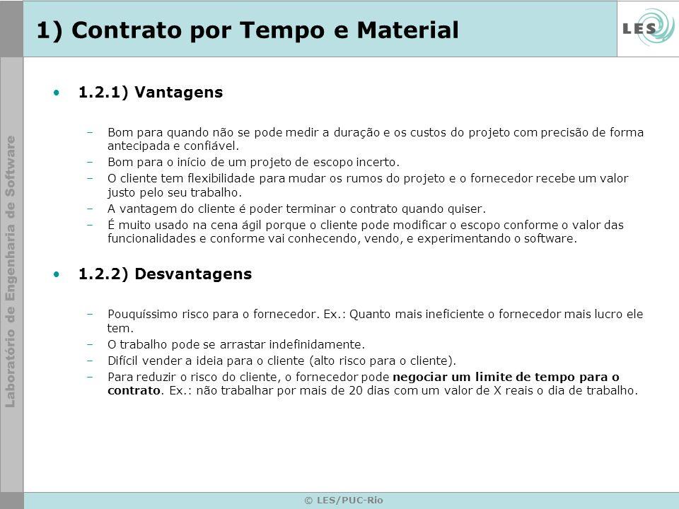 1) Contrato por Tempo e Material