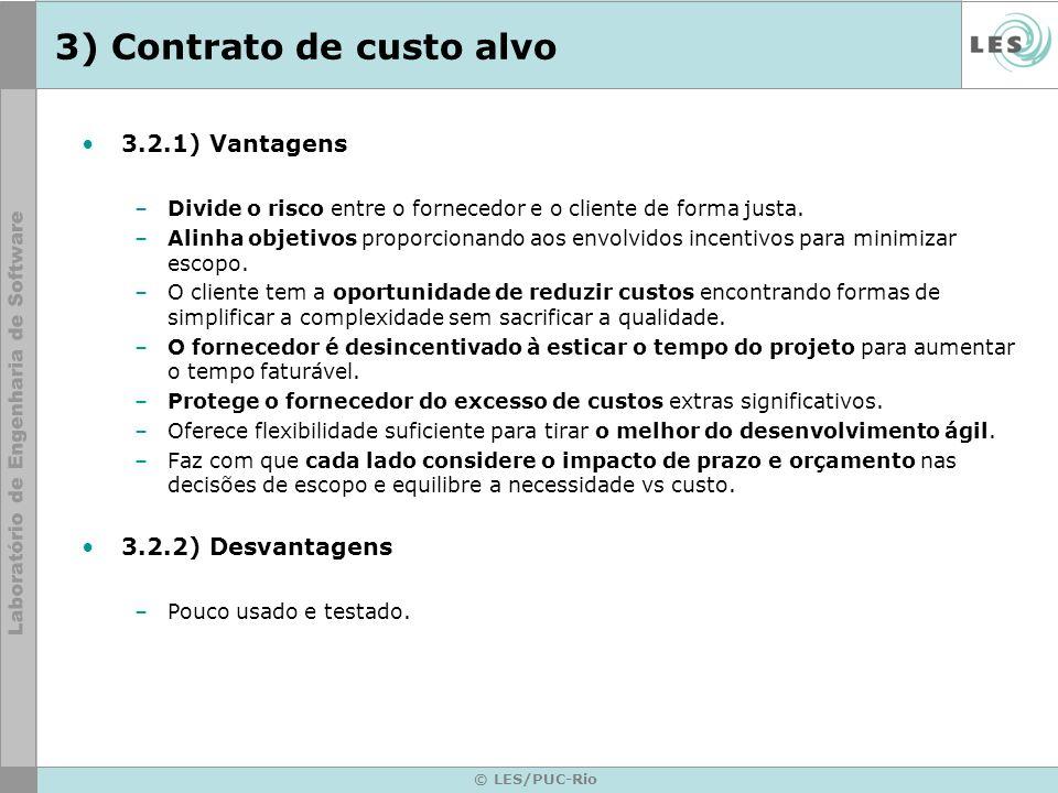 3) Contrato de custo alvo
