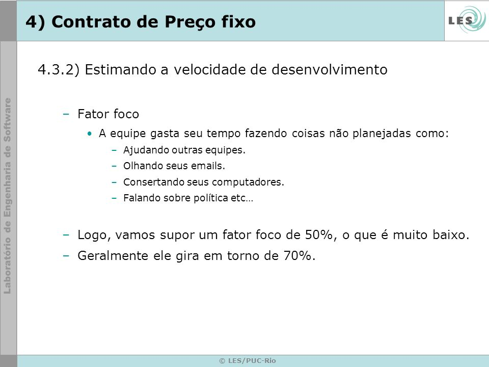 4) Contrato de Preço fixo