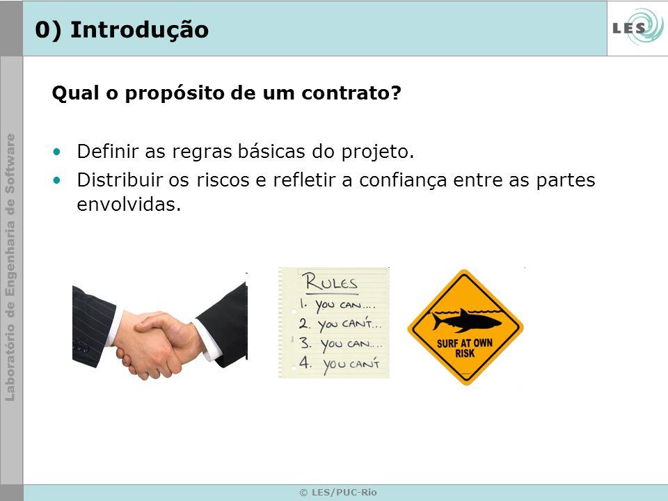 0) Introdução Qual o propósito de um contrato