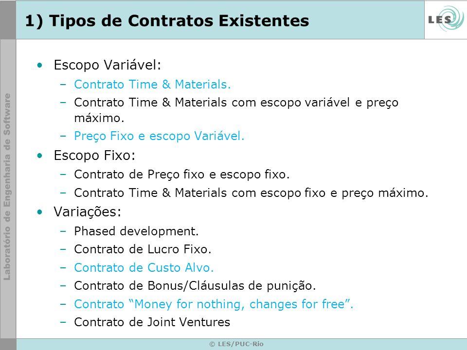 1) Tipos de Contratos Existentes