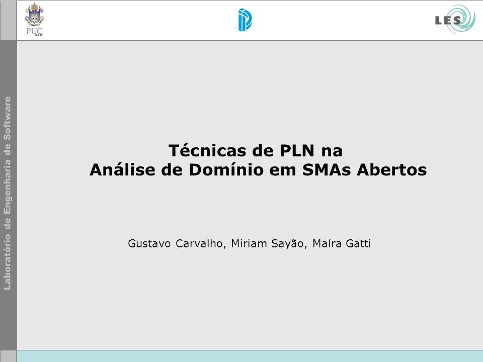 Técnicas de PLN na Análise de Domínio em SMAs Abertos