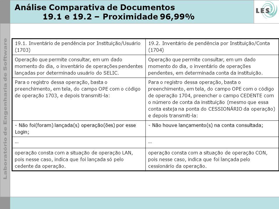Análise Comparativa de Documentos 19.1 e 19.2 – Proximidade 96,99%